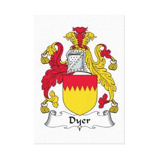 Escudo de la familia el tintóreo lienzo envuelto para galerías