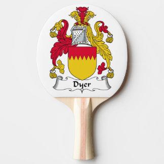 Escudo de la familia el tintóreo pala de tenis de mesa