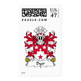Escudo de la familia el tintóreo sellos postales
