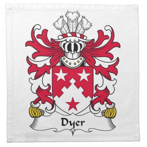 Escudo de la familia el tintóreo servilletas