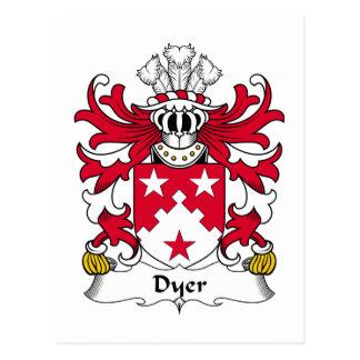 Escudo de la familia el tintóreo tarjeta postal