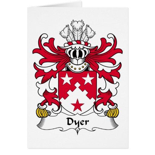Escudo de la familia el tintóreo tarjetas
