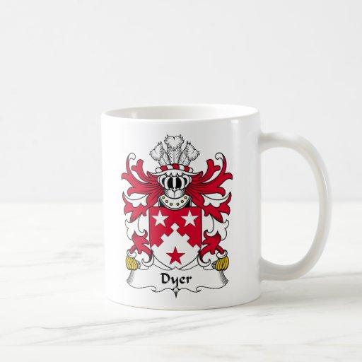 Escudo de la familia el tintóreo taza de café