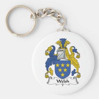 Escudo de la familia Galés Llaveros Personalizados