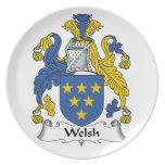 Escudo de la familia Galés Platos De Comidas