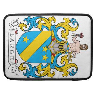 Escudo de la familia grande funda para macbook pro