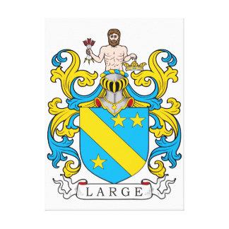 Escudo de la familia grande impresión en lienzo estirada