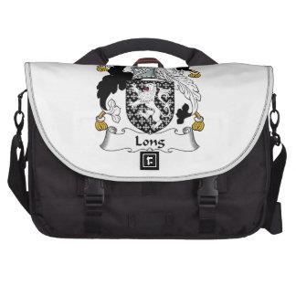 Escudo de la familia larga bolsas de portátil