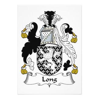 Escudo de la familia larga invitacion personalizada