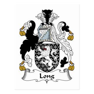 Escudo de la familia larga postales