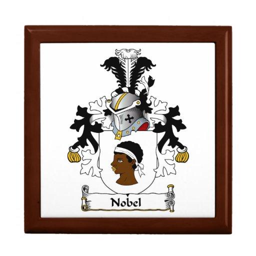 Escudo de la familia Nobel Cajas De Recuerdo