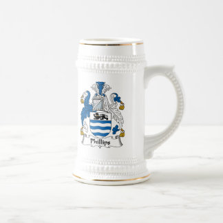 Escudo de la familia Phillips Jarra De Cerveza