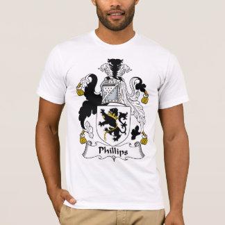 Escudo de la familia Phillips Playera