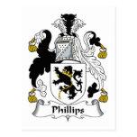 Escudo de la familia Phillips Postal