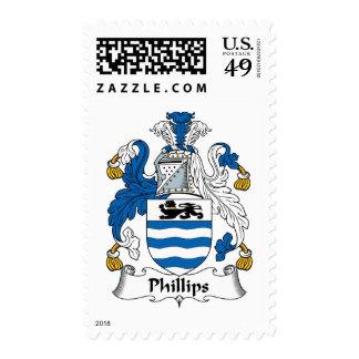 Escudo de la familia Phillips Sello Postal
