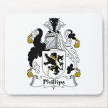 Escudo de la familia Phillips Tapete De Raton