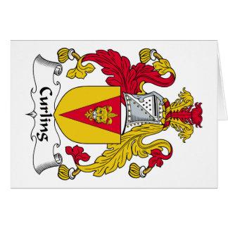 Escudo de la familia que se encrespa tarjeta de felicitación