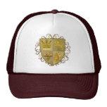 Escudo de la flor de lis del león gorras