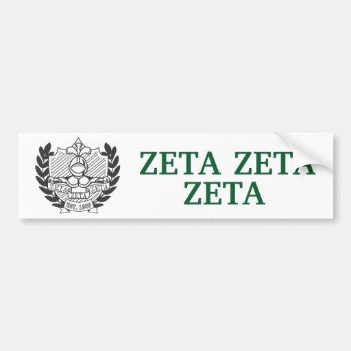 Escudo de la fraternidad de la zeta de la zeta de  pegatina de parachoque