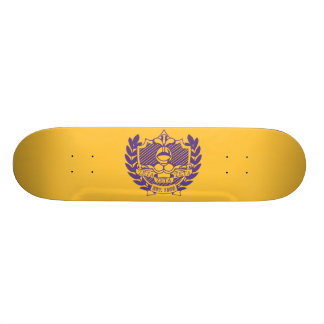 Escudo de la fraternidad de la zeta de la zeta de  skate boards