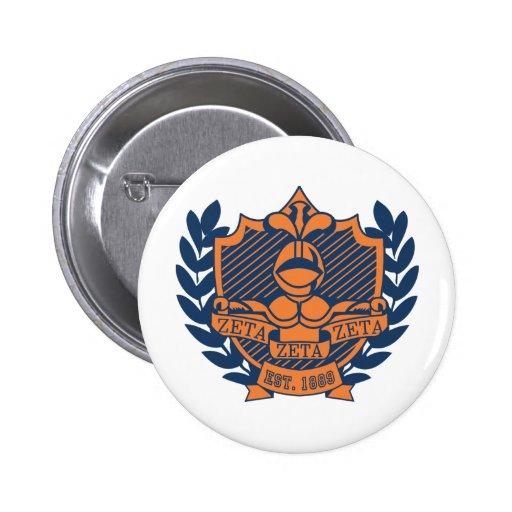 Escudo de la fraternidad de la zeta de la zeta de  pins