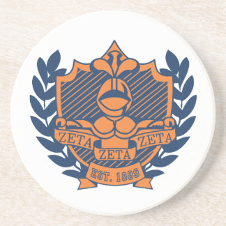 Escudo de la fraternidad de la zeta de la zeta de  posavasos diseño