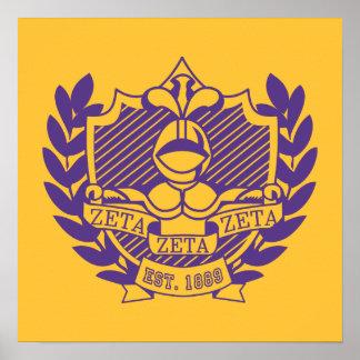Escudo de la fraternidad de la zeta de la zeta de  póster