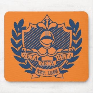 Escudo de la fraternidad de la zeta de la zeta de  tapete de ratón