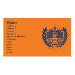 Escudo de la fraternidad de la zeta de la zeta de tarjetas de visita
