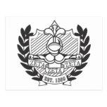 Escudo de la fraternidad de la zeta de la zeta de  tarjetas postales