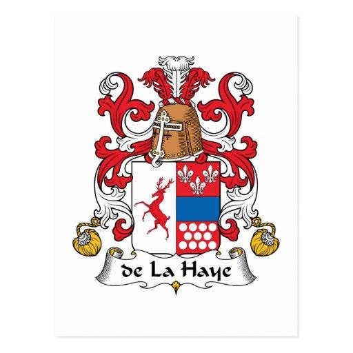 escudo de La Haye Family Tarjetas Postales