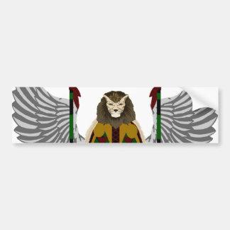 Escudo de la herencia de Jikoba Etiqueta De Parachoque