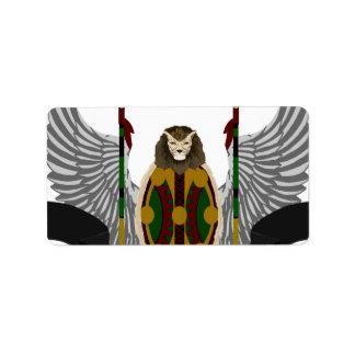 Escudo de la herencia de Jikoba Etiqueta De Dirección