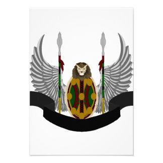 Escudo de la herencia de Jikoba Invitacion Personal