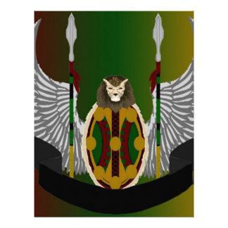 Escudo de la herencia de Jikoba Plantillas De Membrete
