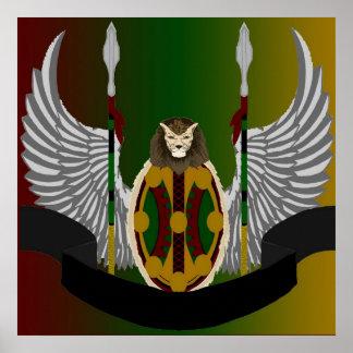Escudo de la herencia de Jikoba Posters