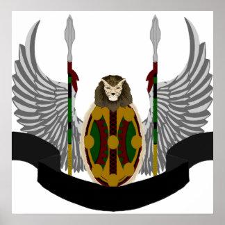 Escudo de la herencia de Jikoba Impresiones