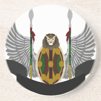 Escudo de la herencia de Jikoba Posavasos Manualidades