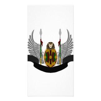 Escudo de la herencia de Jikoba Tarjeta Fotografica Personalizada