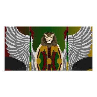 Escudo de la herencia de Jikoba Tarjeta Personal Con Foto