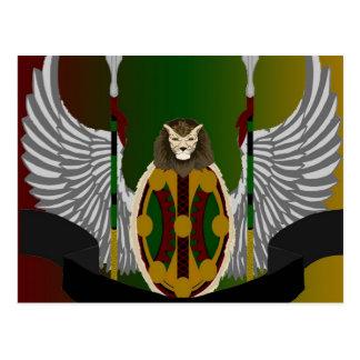 Escudo de la herencia de Jikoba Tarjetas Postales