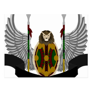 Escudo de la herencia de Jikoba Tarjeta Postal