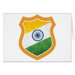 Escudo de la India Tarjeton