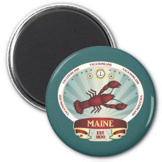 Escudo de la langosta de Maine Imán Redondo 5 Cm