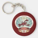 Escudo de la langosta de Maine Llaveros Personalizados