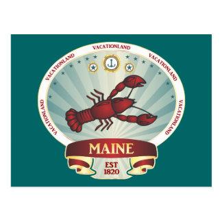 Escudo de la langosta de Maine Tarjetas Postales