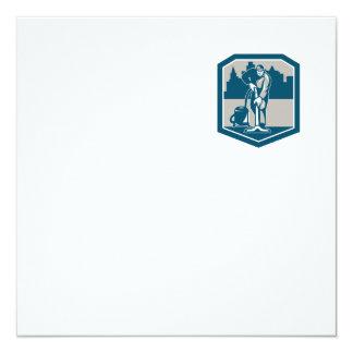 Escudo de la limpieza de la alfombra del vacío del invitación 13,3 cm x 13,3cm
