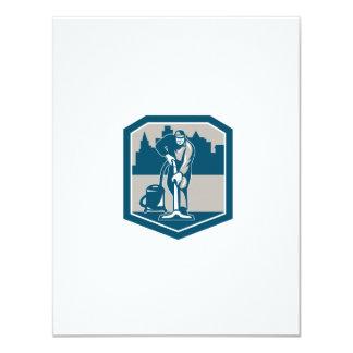 Escudo de la limpieza de la alfombra del vacío del invitación 10,8 x 13,9 cm