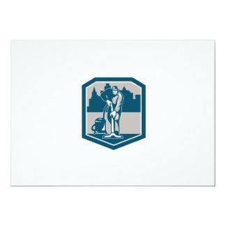 Escudo de la limpieza de la alfombra del vacío del invitación 12,7 x 17,8 cm