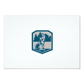 Escudo de la limpieza de la alfombra del vacío del invitación 8,9 x 12,7 cm